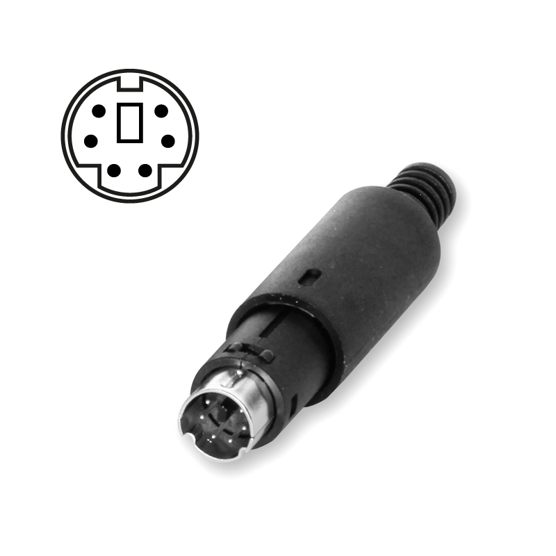 Mini DIN connector 6-pin