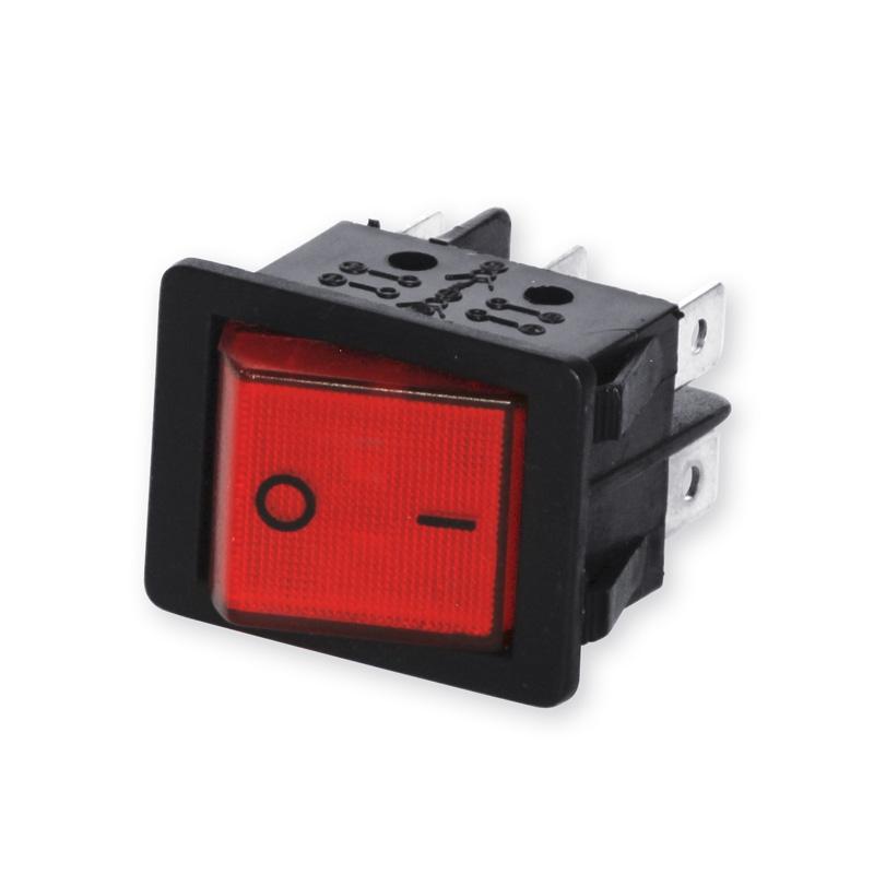 Rocker Switch 2 x UM 6-pin with lighting