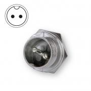 Microphone plug bulkhead 2-pin