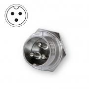 Microphone plug bulkhead 3-pin