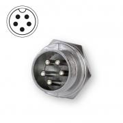 Microphone plug bulkhead 5-pin