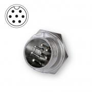 Microphone plug bulkhead 7-pin