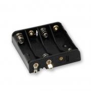 Micro 4 x AAA Battery Holder