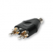 RCA Y-Connector 1x Female to 2x Male
