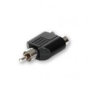 RCA Y-Connector 1x Male to 2x Female