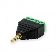 Terminal Block 4-pin - 3,5 mm Jack Plug 4-pin Screw Fastening