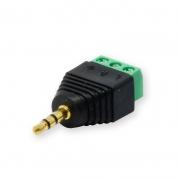 Terminal Block 3-pin - 3,5 mm Jack Plug Stereo Screw Fastening
