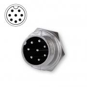 Microphone plug bulkhead 8-pin