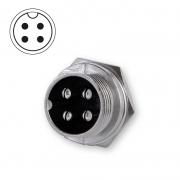 Microphone plug bulkhead 4-pin